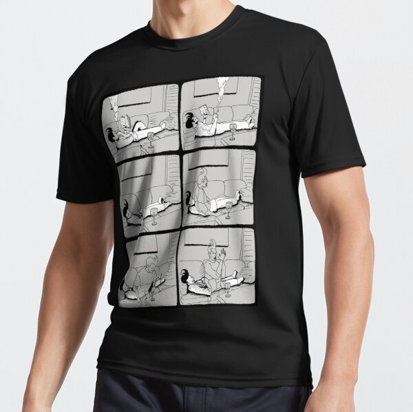Astral Projection B&W Active T-Shirt