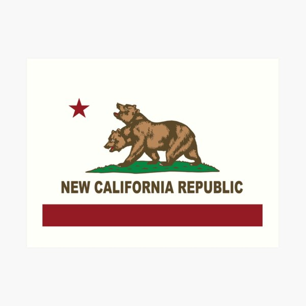New California Republic Flag Original  Art Print
