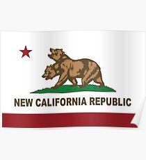 New California Republik Flagge Original Poster