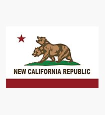 New California Republic Flag Original  Photographic Print