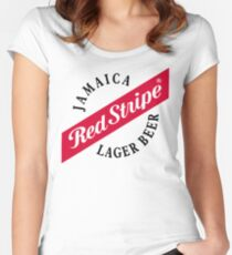 red stripe Women's Fitted Scoop T-Shirt