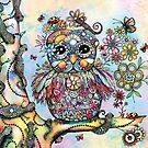 Rainbow of Peace Owl by © Karin Taylor