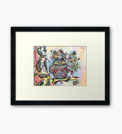 Rainbow of Peace Owl Framed Print