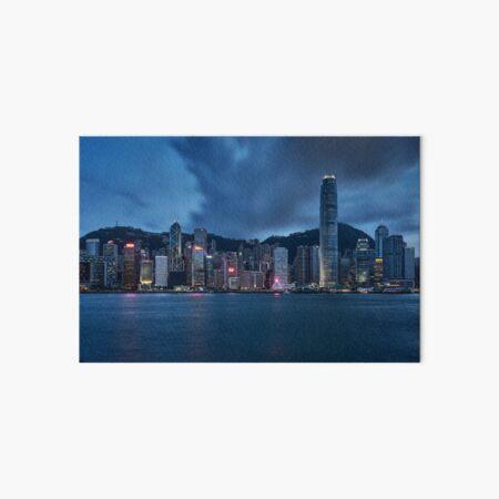 Hong Kong Skyline at Twilight Art Board Print