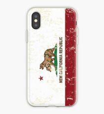 New California Republic Flag Distressed iPhone Case