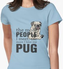 i love pug Womens Fitted T-Shirt