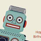 Roboter-Geburtstagskarte von RumourHasIt