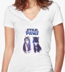 Star Wars Cats Women's Fitted V-Neck T-Shirt