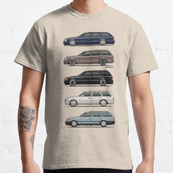 Stack of Mercedes W124 S124 E-Class Wagons Classic T-Shirt