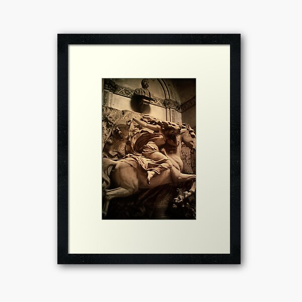 Death - the Maiden, Cimitero Monumentale di Staglieno, Genoa, Italy Framed Art Print