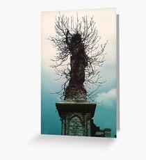 Cherub in Ivy, Kensal Green Cemetery, London Greeting Card