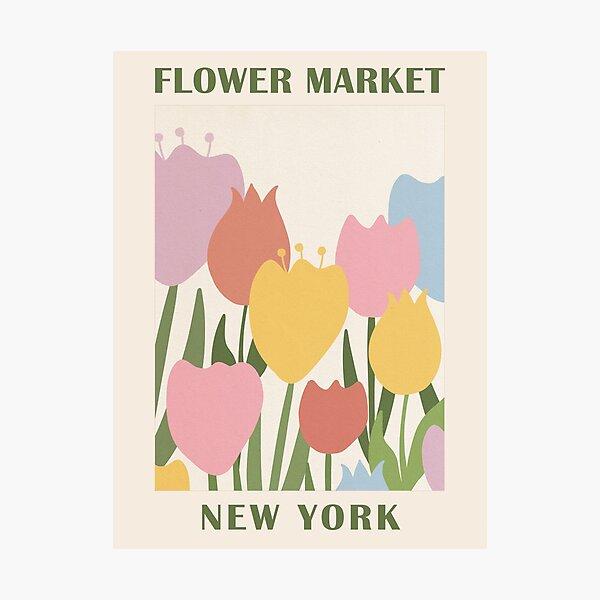 New York Flower Market Photographic Print