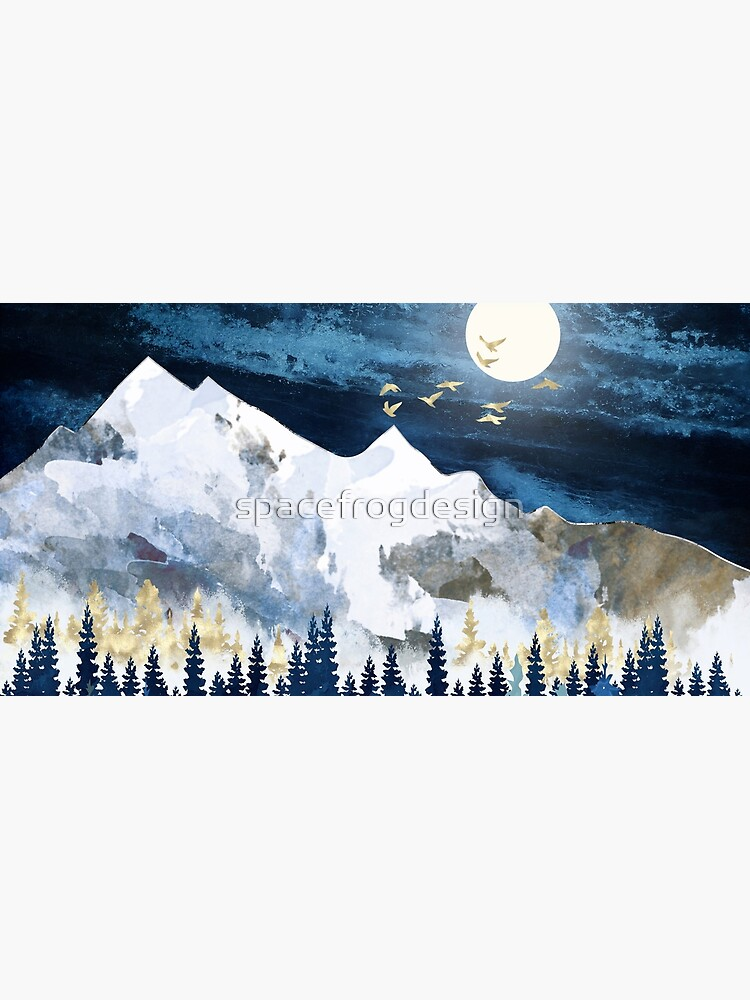 Moonlit Snow by spacefrogdesign