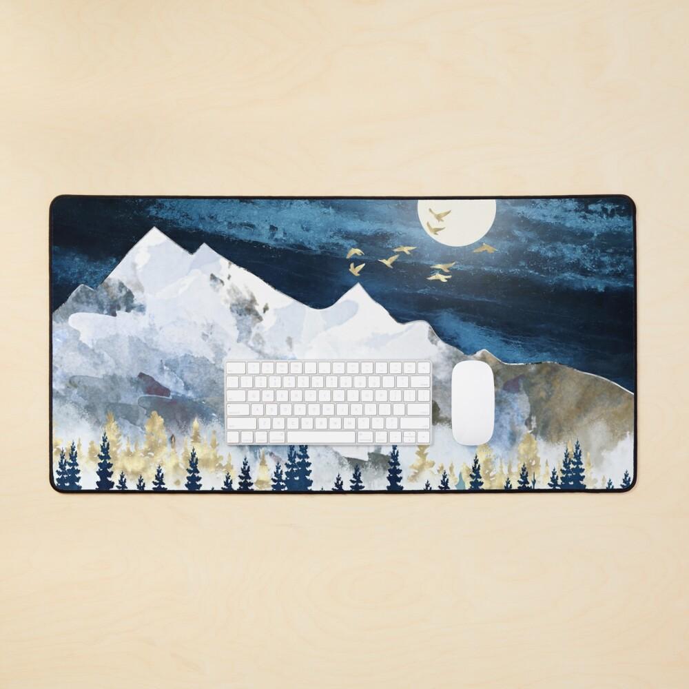 Moonlit Snow Mouse Pad