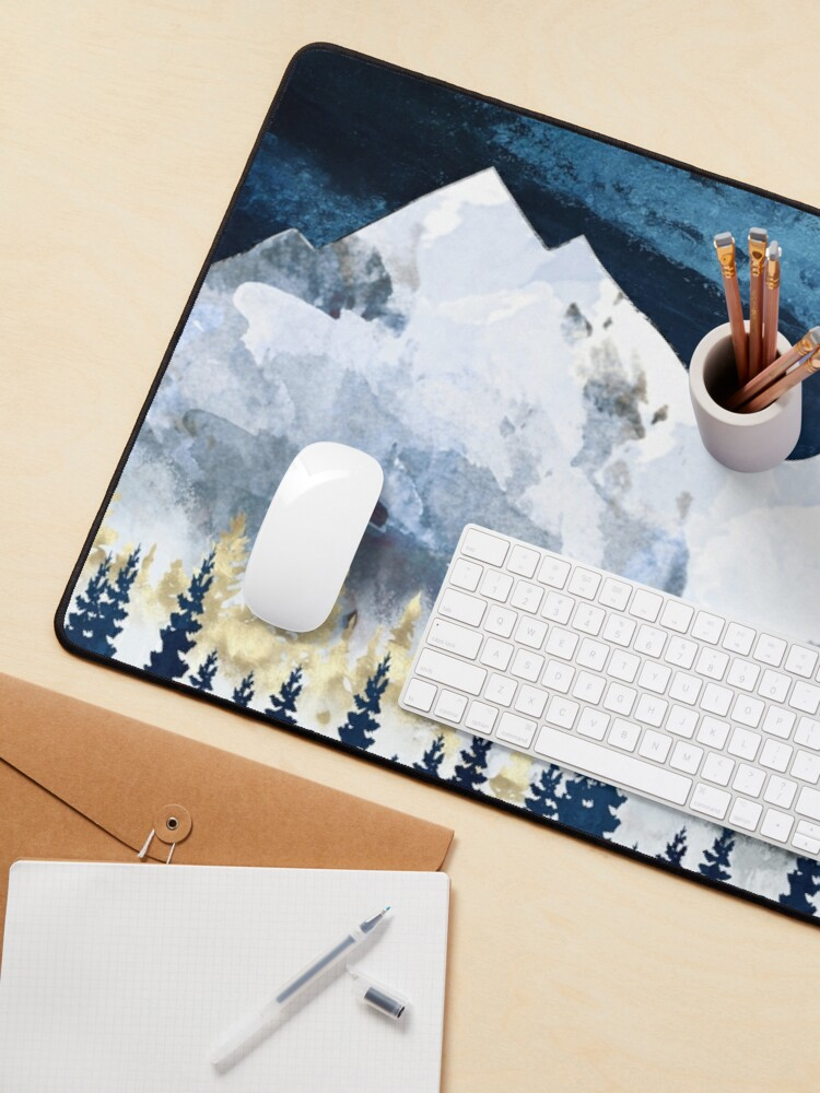 Alternate view of Moonlit Snow Mouse Pad
