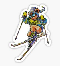 Ski Bear2 Sticker