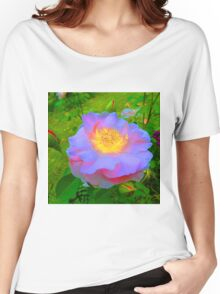 Funky Rose Violet & Pink Women's Relaxed Fit T-Shirt