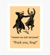 Down with the Frog Art Print