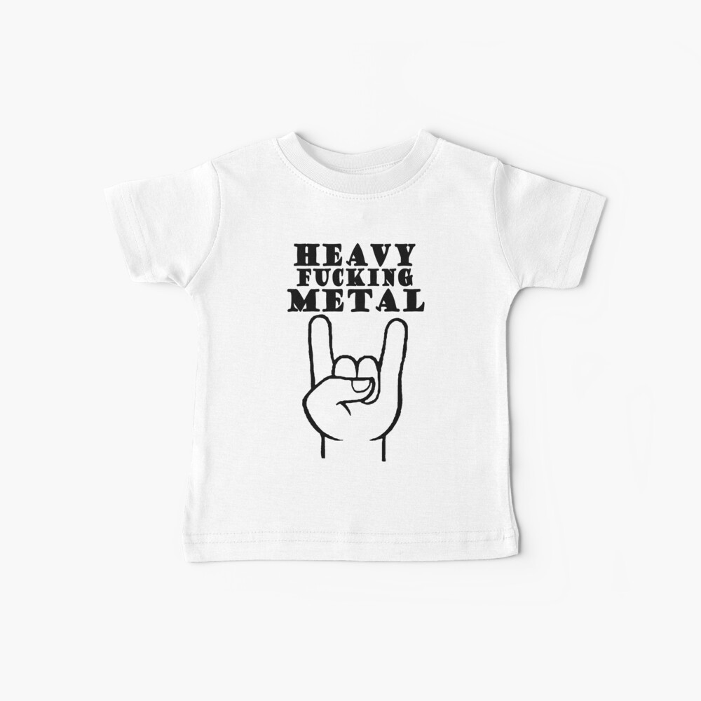 Metal pesado Camiseta para bebés