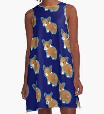 Corgi Puppy A-Line Dress