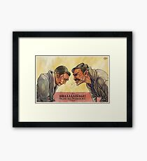 There will be Drainage Framed Print