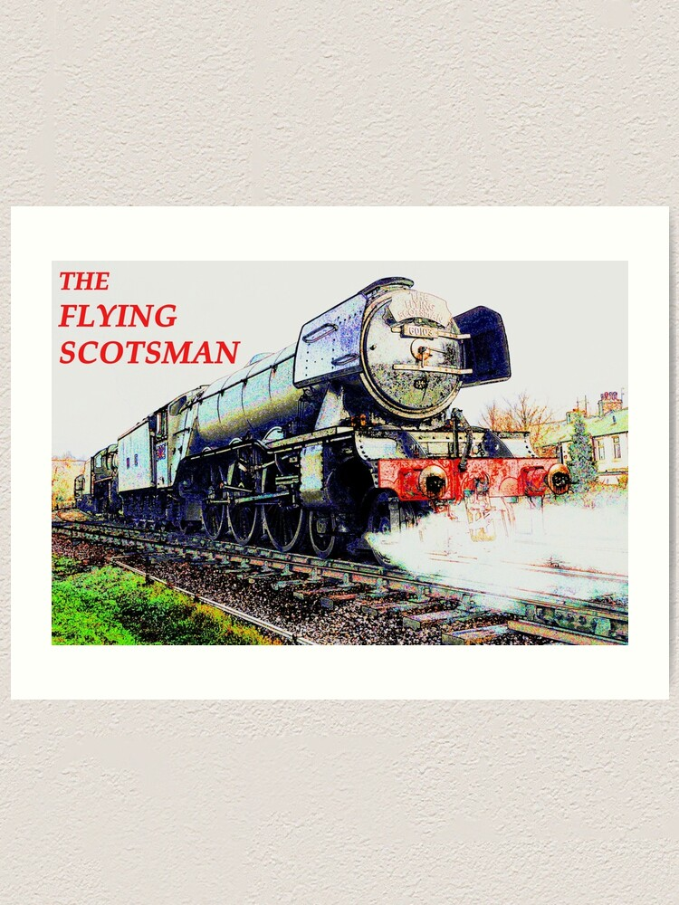TRAIN FLYING SCOTSMAN PICTURE PRINT CANVAS WALL ART VARIOUS SIZES