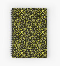 major world currencies pattern on black Spiral Notebook