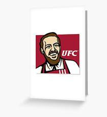 Mc Gregor UFC Greeting Card