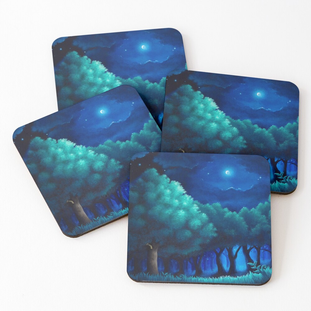 Viridian Forest Coasters (Set of 4)