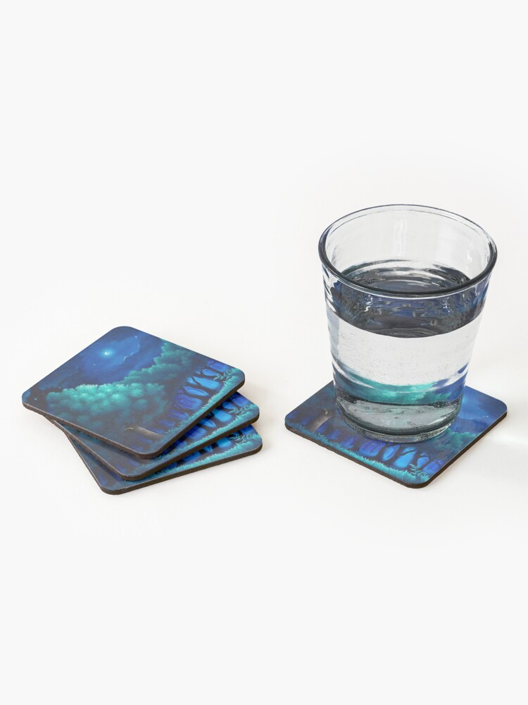 Alternate view of Viridian Forest Coasters (Set of 4)