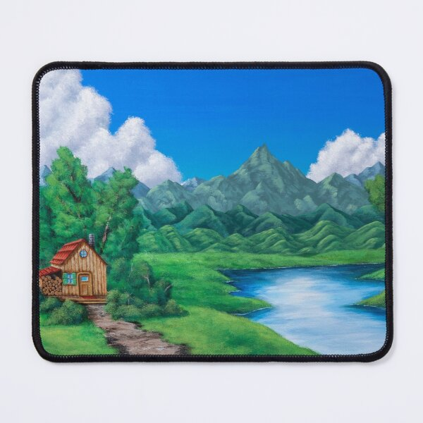 Cabin by the Lake Mouse Pad