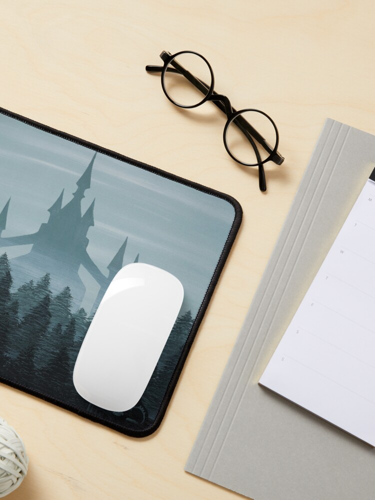 Alternate view of Misty Castle Mouse Pad