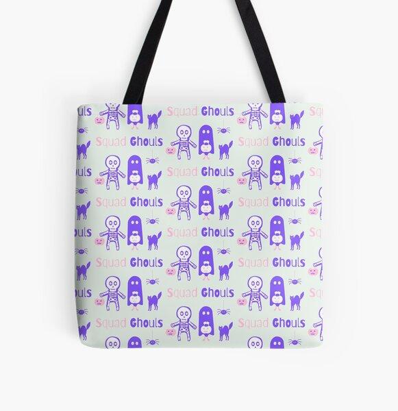 skeleton All Over Print Tote Bag
