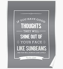 Roald Dahl quote - grey  Poster