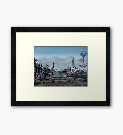 Ruined World Framed Print