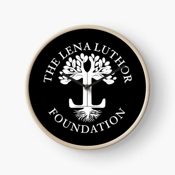 The Lena Luthor Foundation Logo (White) Clock