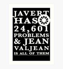 Lámina artística Les Miserables Jean Valjean Javert Jay z 99 problemas
