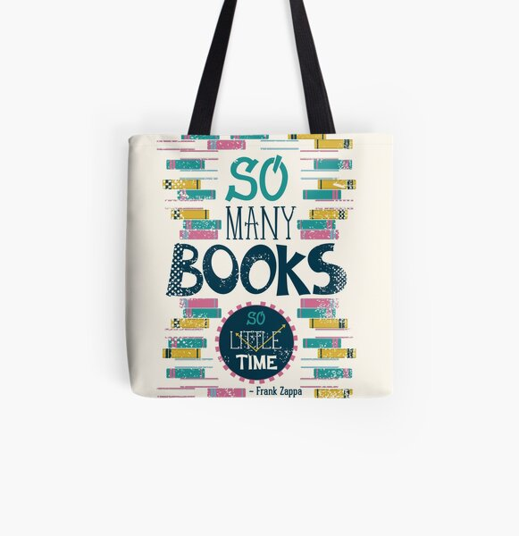 So many books, so little time All Over Print Tote Bag