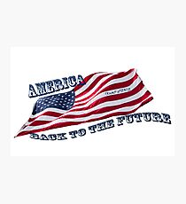 America - Back to the Future Photographic Print