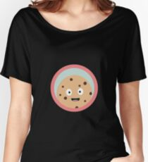 chocolate cookie with red circle Women's Relaxed Fit T-Shirt