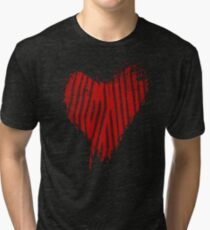Grunge Heart - Love Valentine Tri-blend T-Shirt