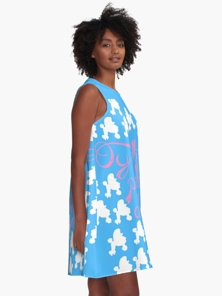 Alternate view of Oy with the poodles already! A-Line Dress