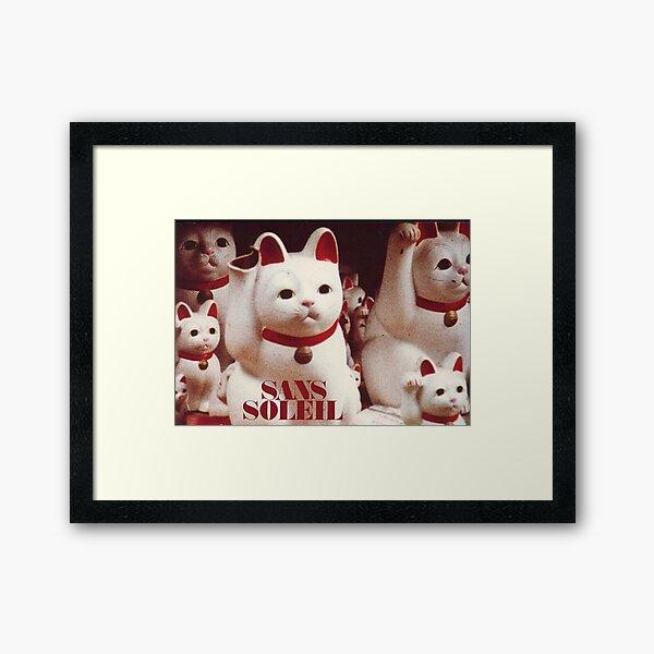 Chris Marker - Sans Soleil Cats Framed Art Print
