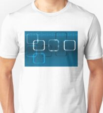 Abstract technical background with DNA and lights T-Shirt