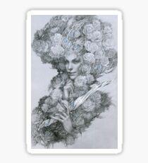 Garden guardian fairy with dagger Sticker