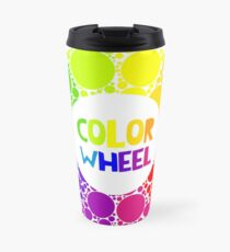 Color wheel palett or color circle isolated.  Travel Mug