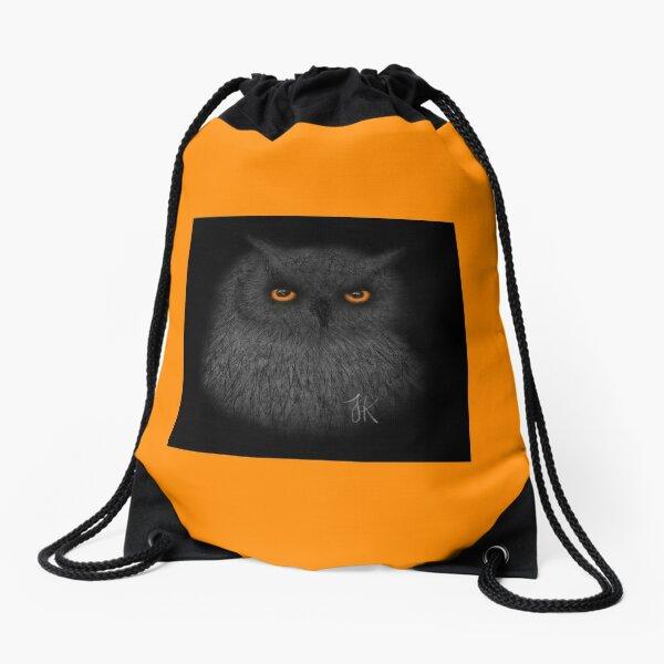 Owl HG Orange Drawstring Bag