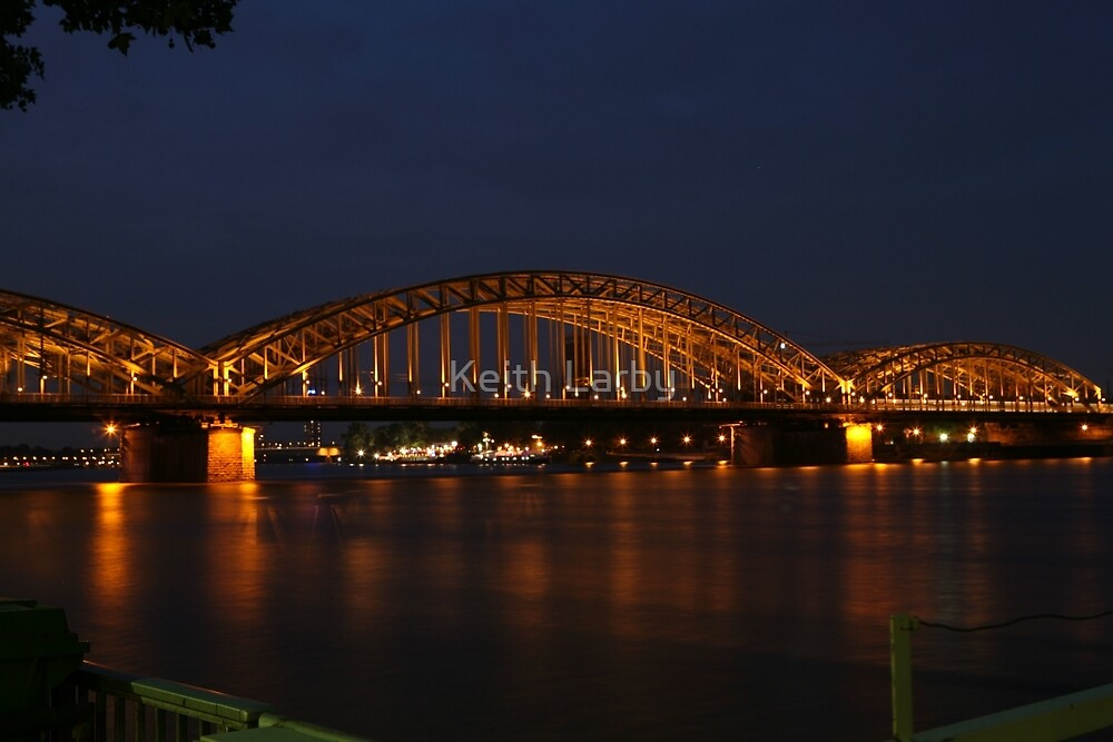 A railway Bridge over the Rhine in Koln, Gemany by Keith Larby