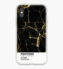 Black and Gold Marble Pantone iPhone Case