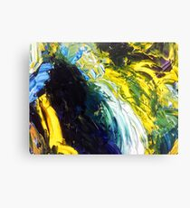 Yellow blues Canvas Print